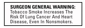 Surgeon General Tobacco Warning