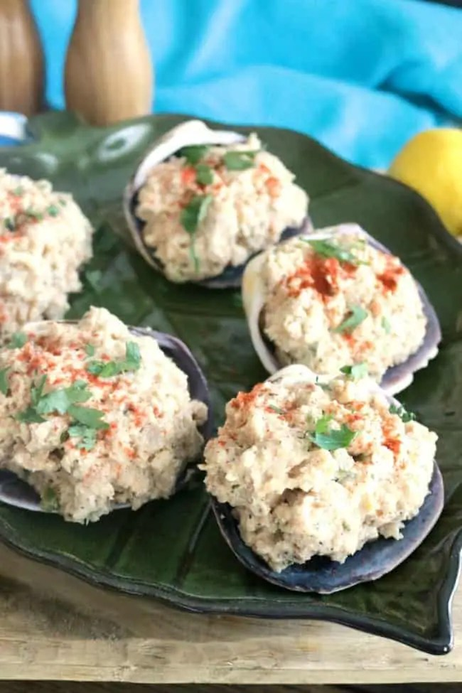 New England-style Stuffed Clams also called Stuffed Quahogs (hard-shelled clams) are a regional favorite in Rhode Island around Narragansett Bay and along the coastline is Southern Massachusetts and the Cape