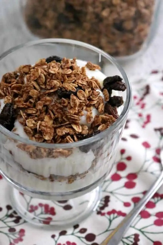 Made from common pantry staples, Homemade Granola, is easy to prepare. It's also easier on your wallet and your budget. Plus you can mix in whatever fruits, nuts and seeds you like!