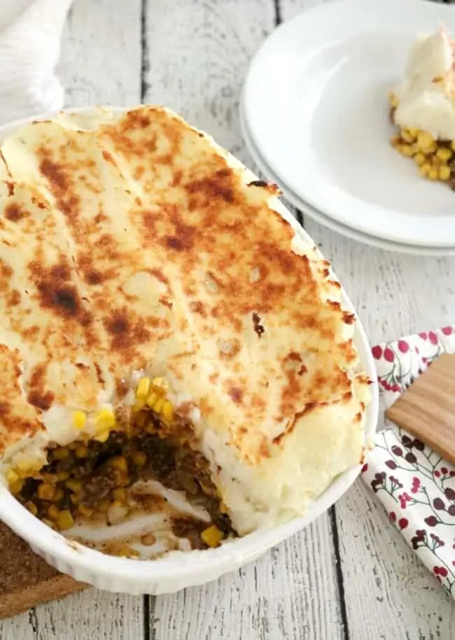 One of our favorite go-to meals is Cottage Pie also known as Shepherd's Pie. Many times this dish is mistakenly called Shepherd's Pie here in the US. The main difference between the two recipes is that Cottage Pie uses ground beef while Shepherd's Pie uses ground lamb.