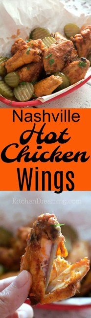 Nashville Hot Chicken is the brainchild of Prince's Fried Chicken in Nashville, TN, USA. It's been a Nashville icon for over 50 years and now it's a trend that's sweeping the nation. If you're into hot wings, you've got to try these A-T-O-M-I-C hot wings! #Nashville #hot #Wings