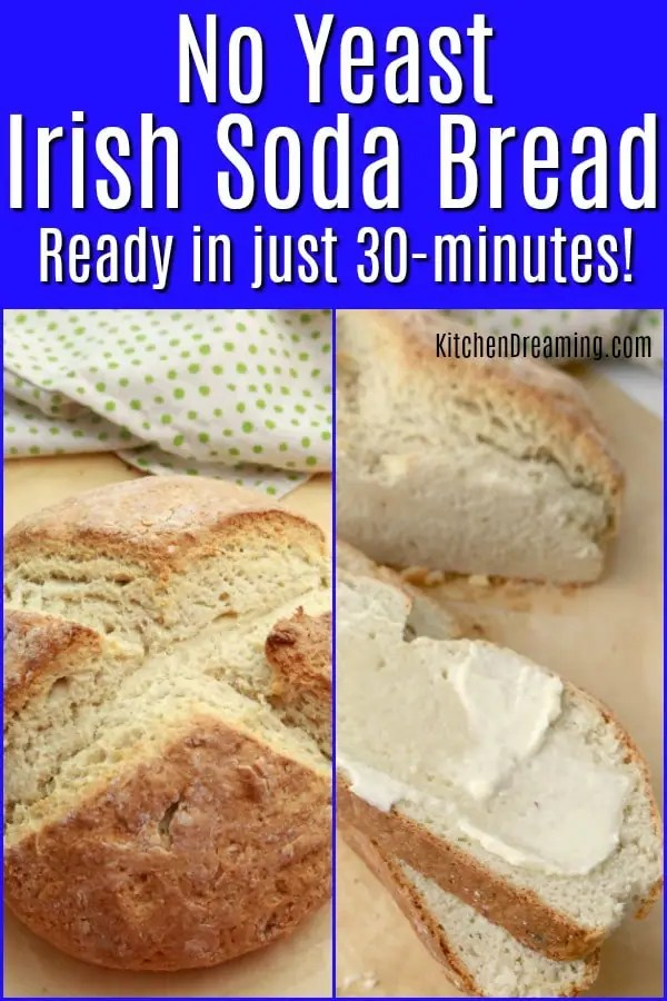 A pinnable Pinterest image for Irish Brown Soda Bread