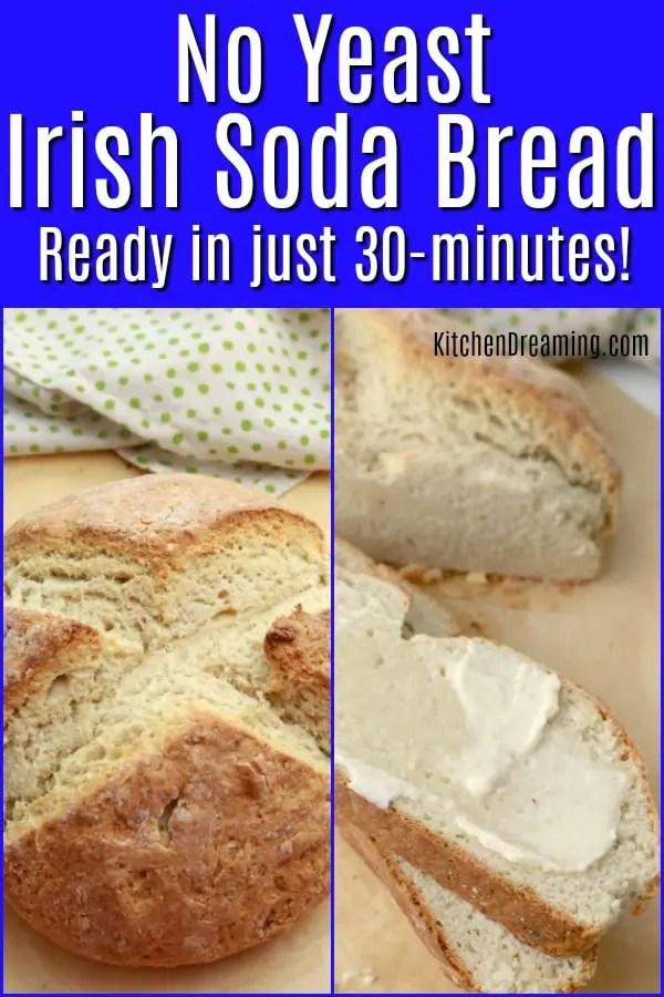 A pinnable Pinterest image for Irish Brown Soda Bread
