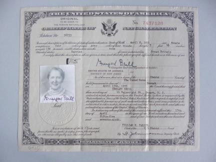 Irmgard Brill US citizenship