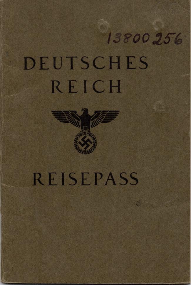 Kitchener camp, Willi Reissner, German passport