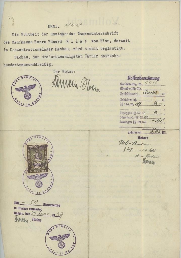 Richborough camp, Eduard Elias, Vollmacht, page 2