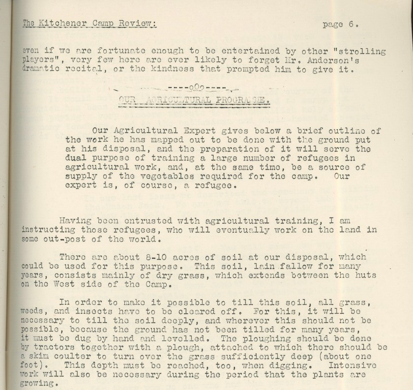 Kitchener Camp Review, April 1939, page 6, top