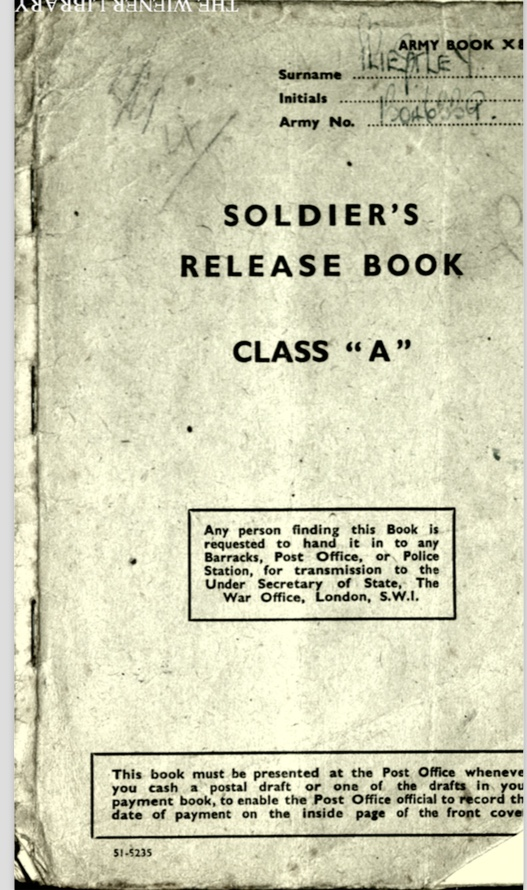 Soldier's Release Book Class A, Document, front cover