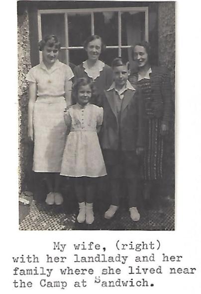 Kitchener camp, Manele Spielmann, Photographs, Sandwich landlady, 1939