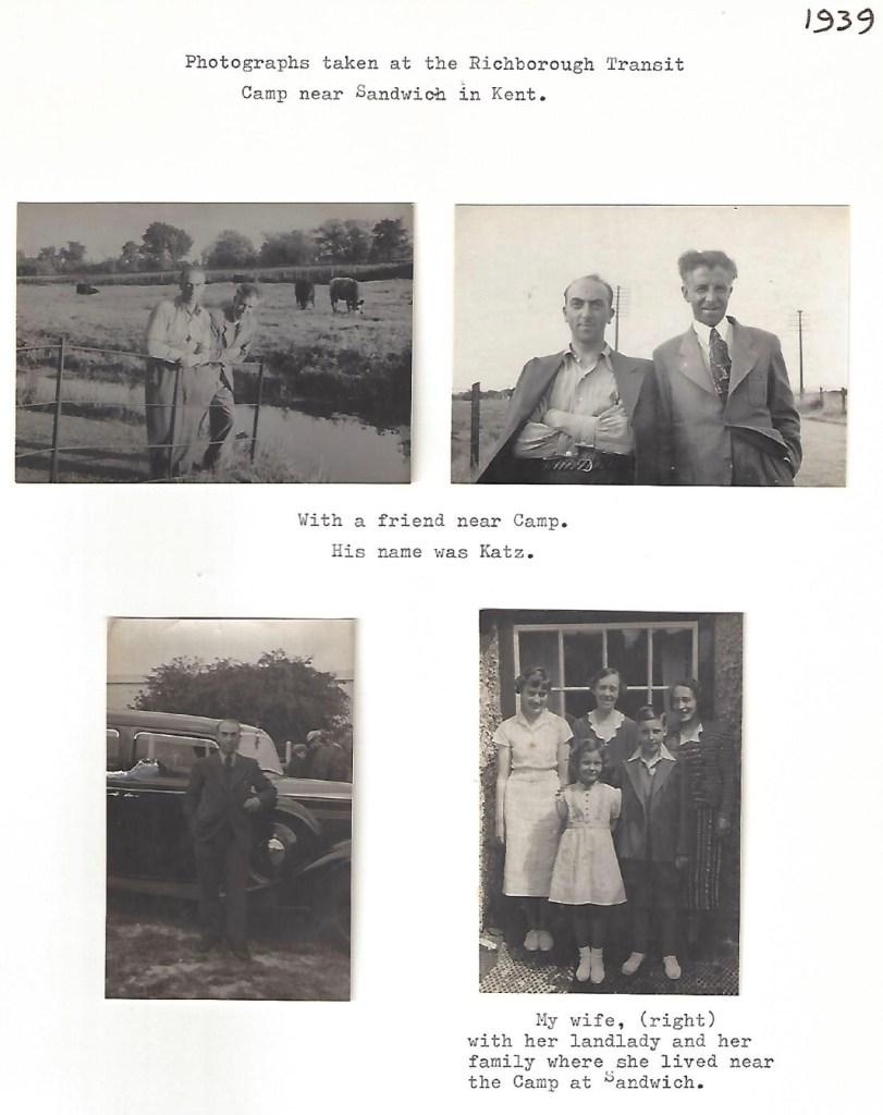 Richborough refugee camp, Manele Spielmann, Photographs, Katz, Sandwich landlady, 1939