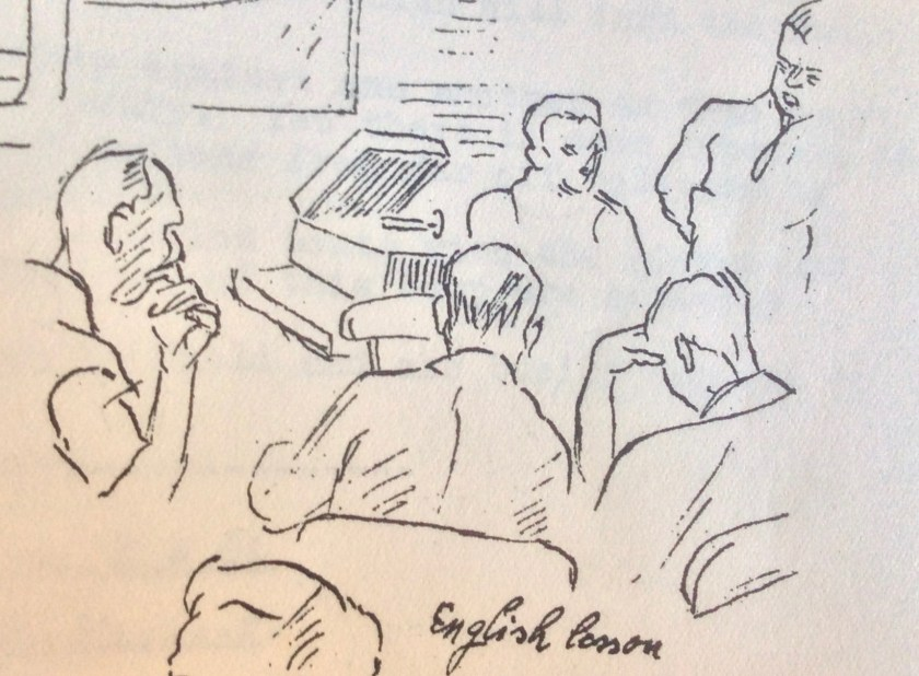 The Kitchener Camp Review, August 1939, Drawing detail, English lesson, page 15