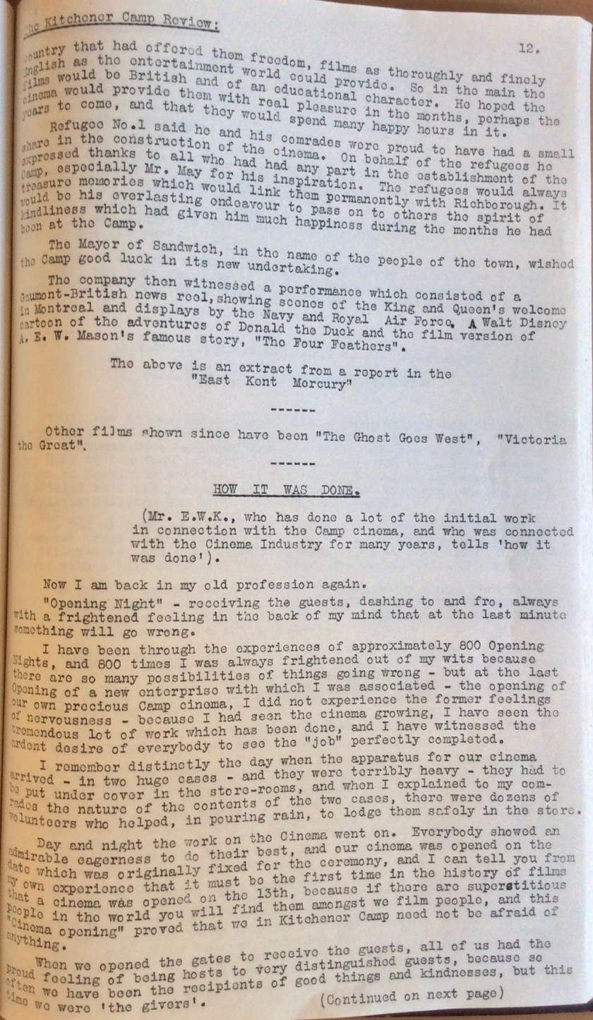 The Kitchener Camp Review, July 1939, No. 5, page 12
