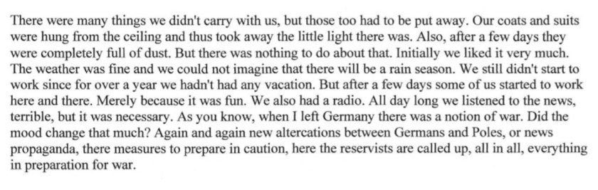 Kitchener camp, Diary, Gerhard Wolf, Berlin ORT, page 2