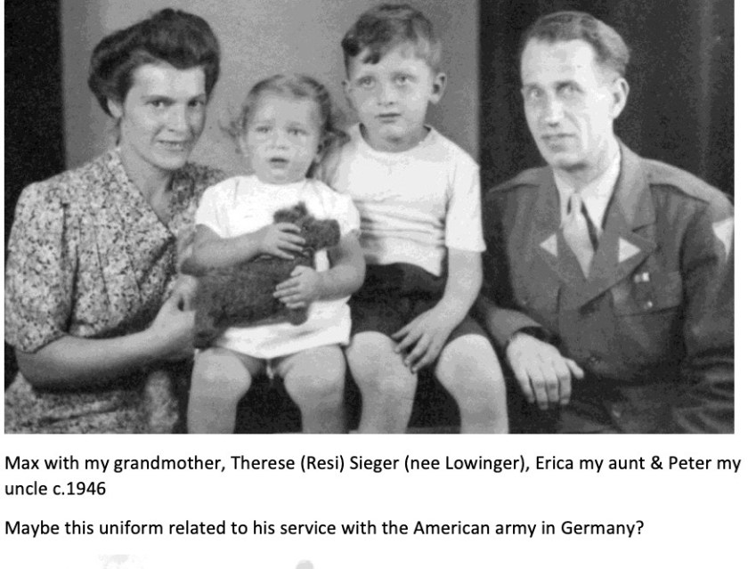 Kitchener camp, Max Sieger, With Therese Sieger, circa 1946