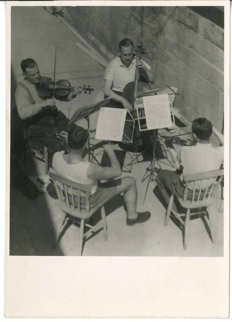 Kitchener camp, Franz Schanzer, With cello