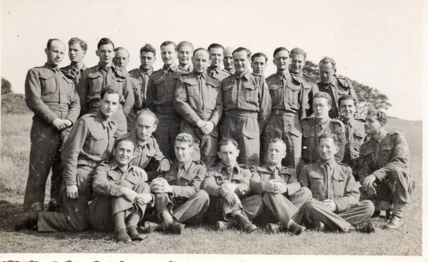 Kitchener camp, army photograph, 1939/40 Will Reissner is standing on the far left, back row  Submitted by Vivien Harris for her father, Willi Reissner