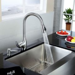 Kraus Kitchen Faucet Rubbermaid Trash Can Faucets Reviews Pro Kpf 2170 Single Lever Pull Out