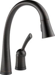 antique bronze kitchen faucet red cabinets a guide to selecting an oil rubbed delta pilar single handle pull down with touch2o technology
