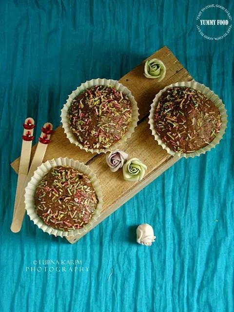 Microwave Chocolate, Oats and Banana Muffins