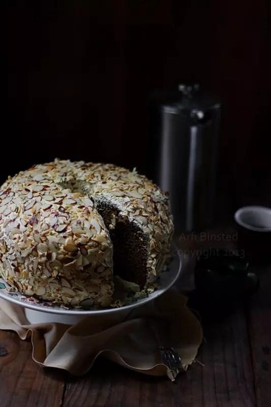 Coffee and Walnut Chiffon Cake