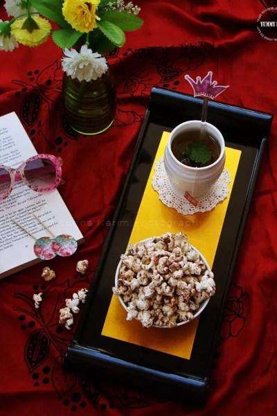 Cinnamon-Cocoa Flavored Popcorn