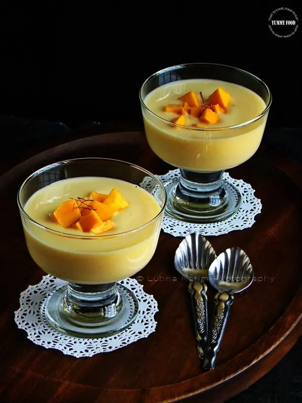 Mango Saffron Pudding