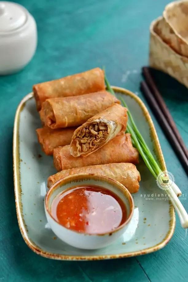 Bamboo Shots and Shrimps Lumpia