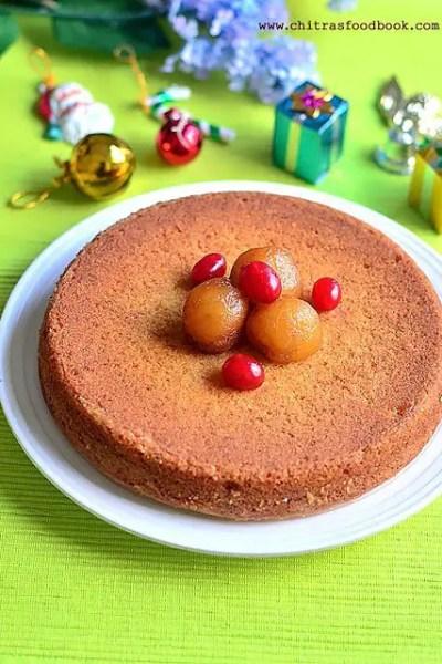 Eggless Vanilla Cake using Gulab Jamun Mix