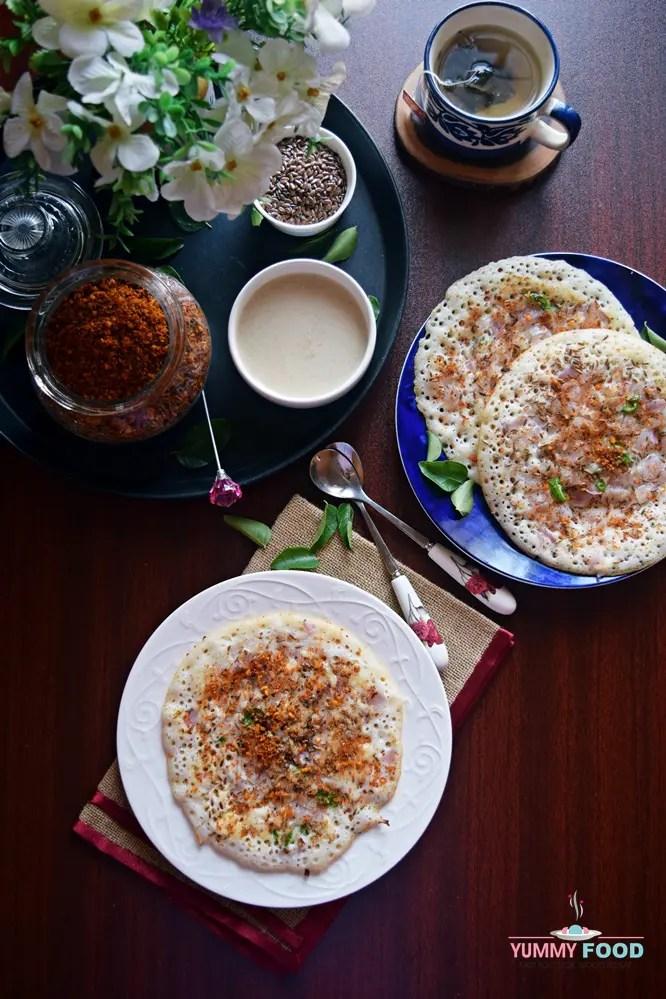 Barnyard Millet Onion Uttapam