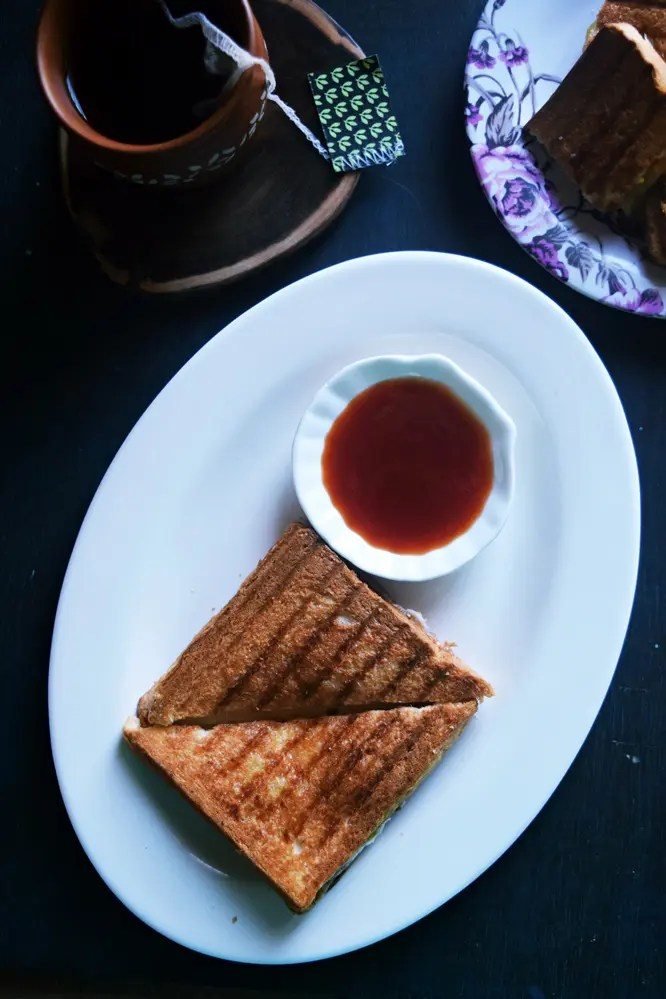 Curried Potato Grilled Sandwiches