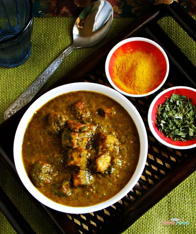 How to make north indian style methi palak with cottage cheese