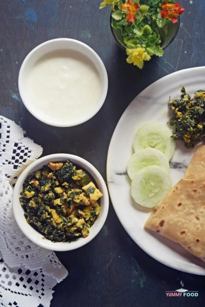 Andhra Style Thotakura Egg Bhurji