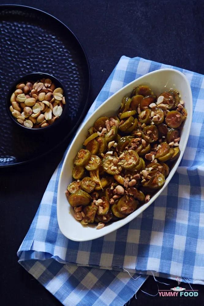 Kunduri Fry with roasted peanuts