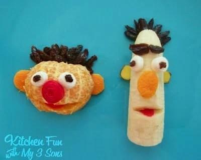 Ernie and Bert Fruit Snack for Kids!
