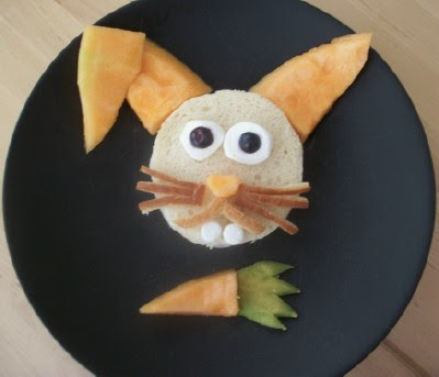 Fruit and Sandwich Bunny Lunch