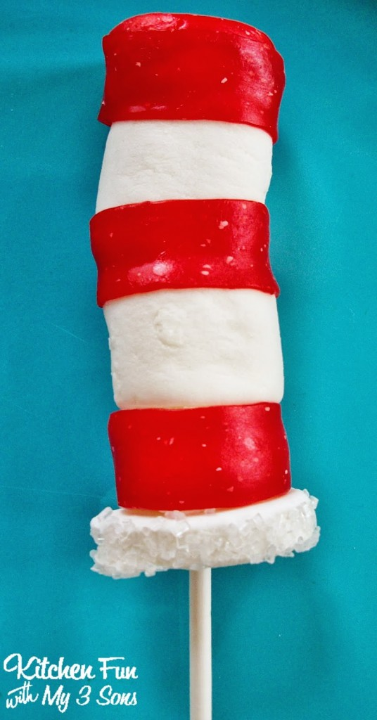 Dr. Seuss Cat in the Hat Marshmallow Pops
