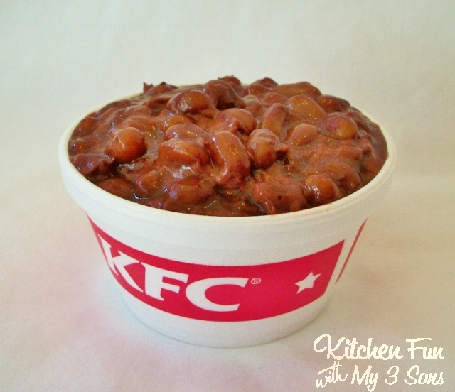 April Fools Day KFC Baked Beans Dessert