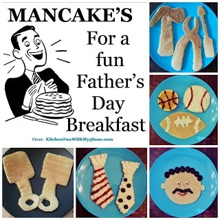 Mancakes for Father's Day Breakfast!