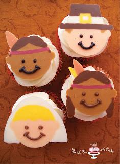 Pilgrim and Indian Cupcakes
