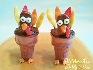 Turkey Cupcake Cones