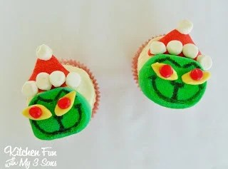 Grinch Marshmallow Cupcake Toppers