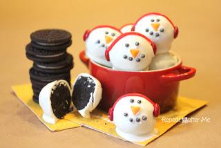 Oreo Snowman Truffles