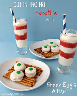 Cat in the Hat Smoothie with Green Eggs & Ham Treats