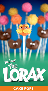 The Lorax Cake Pops