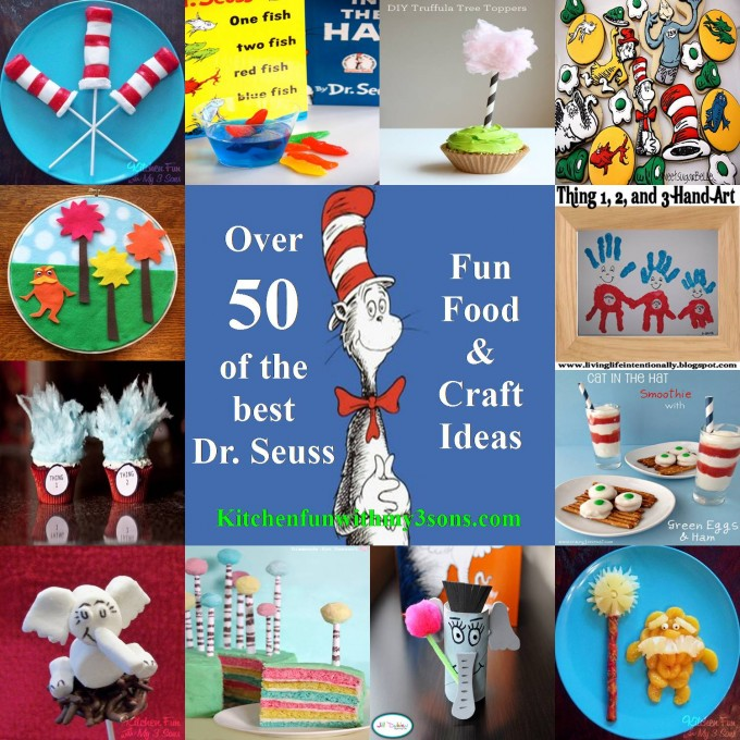 Over 50 of the BEST Dr. Seuss Fun Food & Craft Ideas for Kids from KitchenFunWithMy3Sons.com