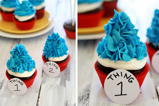 Thing 1 Thing 2 Cupcakes