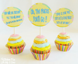 Dr. Seuss Oh, The Places You'll Go Cupcakes