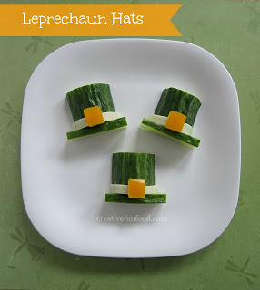Cucumber Leprechaun Hats