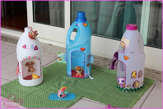 Doll House using Plastic Containers