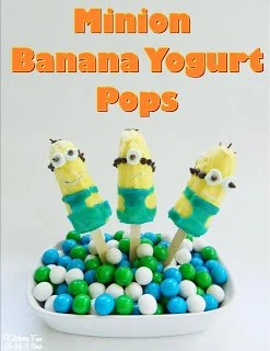 Minion Banana Yogurt Pops